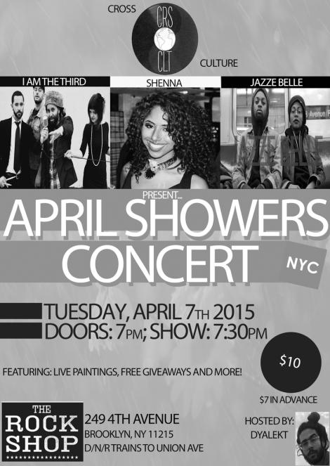 April Showers Concert Flyer BnW